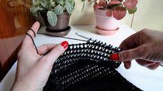 Tuniski bod, šal (Tunisian Crochet, Scarf)