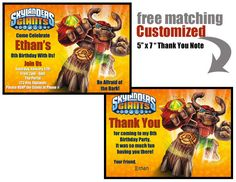 Skylanders Party  Birthday  CUSTOMIZED by JocelynsParties on Etsy, $12.00