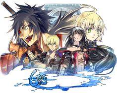 Velvet, Eizen, Laphicet, Rokurou (Tales of Berseria)