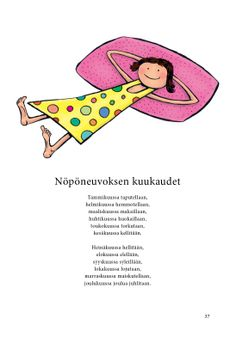 Nöpöneuvoksen kuukaudet (Jari Tammi: Nakkikirja, Pikku-idis 2013) Teaching Vocabulary, Teaching Aids, Early Education, Early Childhood Education, Finnish Words, Science And Nature, Pre School, Literature, Kindergarten