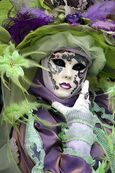 Lady of Purple and Lime Green Feathers | Flickr - Photo Sharing!
