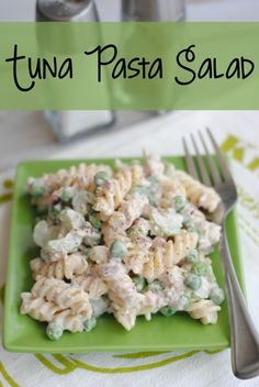 Easy and delicious summer recipe for homemade Tuna Pasta Salad on 5DollarDinners.com