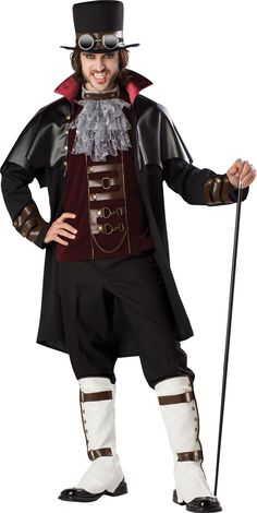 Amazon.com: InCharacter Costumes, LLC Steampunk Vampire: Adult Sized Costumes: Clothing