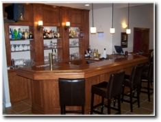 Basement bar plans (for purchase) but pictures for inspiration.