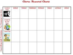Toddler Reward Chore Chart