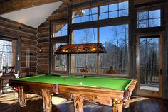 Only thing I like are the windows - large pane with smaller panes above like the Jewells' cabin Selling Furniture, Living Furniture, Rustic Furniture, Cabin Homes, Log Homes, Log Home Living, Entertainment Room, Pool Houses, Rustic Design