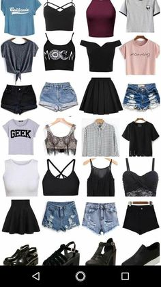 Trendy Hair Ideas Short - Ropa Tutorial and Ideas Teen Fashion Outfits, Cute Casual Outfits, Cute Summer Outfits, Cute Fashion, Outfits For Teens, Pretty Outfits, Girl Outfits, Fashion Fashion, Fashion Shorts