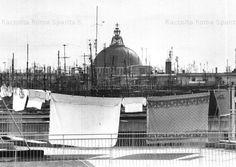 Foto storiche di Roma - La Cupola della Chiesa di San Giovanni Bosco vista dai tetti del quartiere