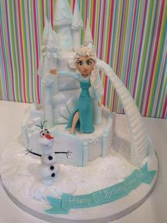 "Wow! Love it! ""Frozen"" cake."