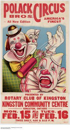 Polack Bros. Circus - Clowns and firecrackers.