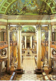 The Prunksaal (splendor hall) of the National Library of Austria