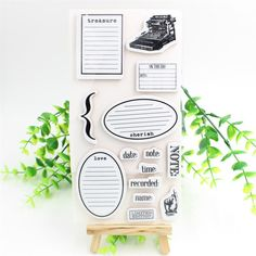 1sheet DIY Treasure Rubber Stamp Seal for scrapbooking/photo album Decorative silicone stamp