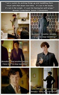 Ben admits to twiddling as Sherlock