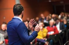 """There is a bit of a misperception about the phrase """"public speaking"""". The misperception that the technique of becoming good at public speaking is all in how you speak. Corporate Event Planner, Corporate Events, Event Planners, Corporate Business, Einstein, Public Speaking Tips, Best Speakers, Coaching, How To Become"""