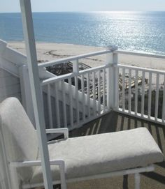 The private deck off the Master Bedroom...Romantic place to watch the sun set