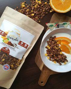 Kakao a pomaranč Kakao, Granola, Food, Essen, Meals, Yemek, Muesli, Eten