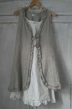 Платья ручной работы. Ярмарка Мастеров - ручная работа. Купить платье летнее в стиле бохо. Handmade. Серый, однотонный