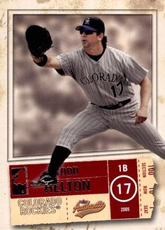 Todd Helton Todd Helton, Colorado Rockies, The Row, Baseball Cards, Sports, Plant Bed, Hs Sports, Sport