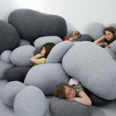 Mix Color Living Stones Pillows ( 6Pcs/Set ) (Cheaper versions!!!)