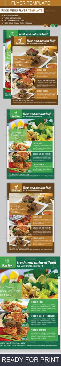 Food Flyer Template Vol 3 Flyer template, Food and Font logo - food flyer template