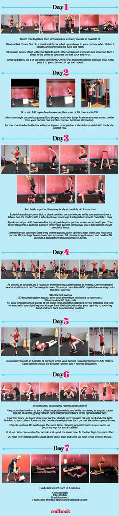 Couples CrossFit workout routine. Some of these are great, others I'd probably skip or do something else lol