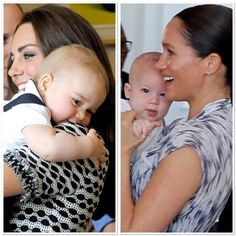 Not fashion related but I had to! Royal mamas with their sons on their first overseas engagements 🇳🇿 🇿🇦 Kate And Meghan, Harry And Meghan, Principe Harry, Royal Babies, Lady Diana, Meghan Markle, Archie, British Royals, Engagements