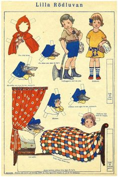 Papieren roodkapje * 1500 free paper dolls for other Pinterest paper doll pals at Arielle Gabriel's The International Paper Doll Society *