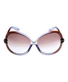 Another great find on #zulily! Purple & Brown Round Sunglasses by Tom Ford #zulilyfinds