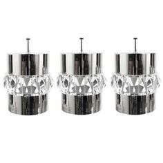 Set of 3 Bakalowits Vienna Crystal Exclusive Pendant Lamps from the 1950s | From a unique collection of antique and modern chandeliers and pendants  at http://www.1stdibs.com/furniture/lighting/chandeliers-pendant-lights/