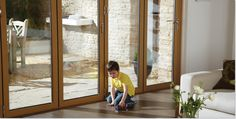Bi Fold Doors are completely child safe with soft gaskets that won't cause injury when shutting the door on your hands. designed and manufactured in High Wycombe