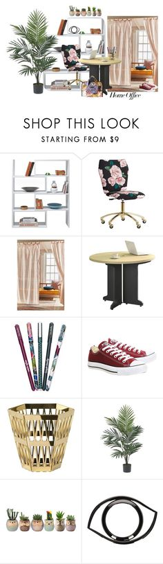 """""""Home office 2"""" by andrea-pok on Polyvore featuring interior, interiors, interior design, home, home decor, interior decorating, Design House Stockholm, PBteen, Urban Outfitters and Vera Bradley"""