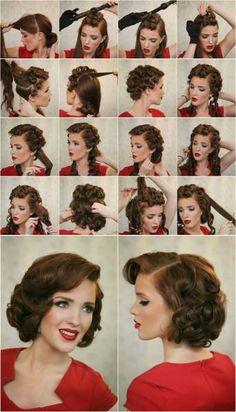 7 magnifiques tutoriels pour une coiffure rétro