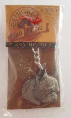 Boston Terrier Dog FinePewter KeychainHolder Unopened Lead free Fort USA Vintage in Collectibles, Animals, Dogs, Boston Terrier | eBay