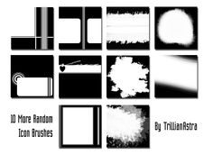 More Random Icon Brushes by TrillianAstra