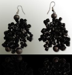 Dark-silver: Wear these handcrafted earrings by BRizzy with a feminine glamour accented the elegance. Feminine, Glamour, Drop Earrings, Elegant, Dark, Silver, How To Wear, Jewelry, Fashion