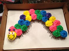 Caterpillar Cupcake Cake