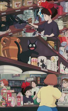 마녀 배달부 키키 - Best of Wallpapers for Andriod and ios Studio Ghibli Art, Studio Ghibli Movies, Hayao Miyazaki, Totoro, Manga Anime, Anime Art, Sakura Card Captor, Animation 3d, Mononoke