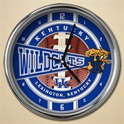 "Kentucky Wildcats 12"" Chrome Clock  #Fanatics"