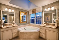 Toll Brothers Master Bath with Soaking Tub
