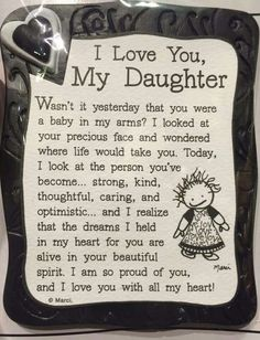 I Love You My Daughter