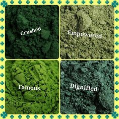Do you have your green on today ;)  I wore empowered and dignified wet with some devious and angelic ~ love my Younique pigments - Happy St. Patty's Day!