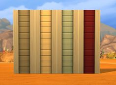 My Sims 4 Blog: Clapboard Crush Add-On: Left/Right Edge by plastic...