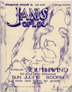 Janis Joplin at the Santa Clara Fairgrounds, July 12, 1970 (just two months before her death)