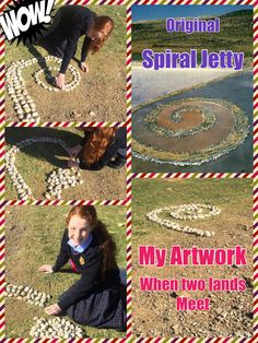 Isabel's artwork is inspired by artist Andy Goldsworthy