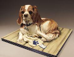 little girl's dog: Emma Jayne Cake Design, facebook