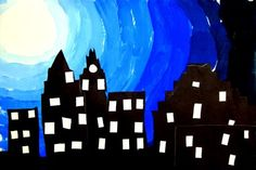 Great art activity to use with Ezra Jack Keats. Paint and collage.
