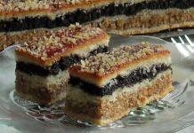 Pita s makom i orasima Romanian Desserts, Romanian Food, Sweets Recipes, Cake Recipes, Cooking Recipes, Apricot Tart, Kolaci I Torte, Croatian Recipes, Food Cakes