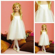 Custom Made Top Quality Custom Made Top Quality Cap Sleeve Organza Informal Short Sleeve A Line Flower Girl Dress