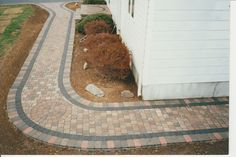 Exterior Paver Stone Walkway Paver Walkway Cost Paver Walkway Edging Easy Paver Walkway Paver Walkway DIY Project: Installing Walkway on a Budget Outdoor Walkway, Concrete Walkway, Paver Walkway, Stone Walkway, Brick Pavers, Walkway Ideas, Paver Edging, Diy Paver, Paver Sand