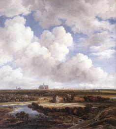 View of Haarlem with Bleaching Grounds - Jacob van Ruisdael, ca. 1665